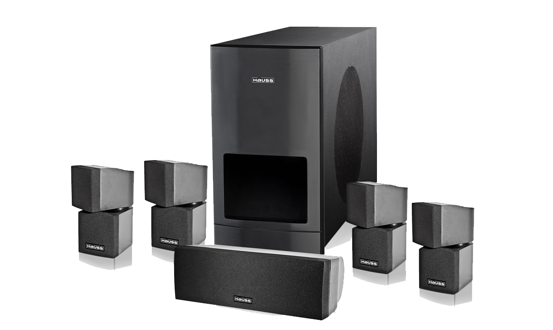 Hauss Media Labs Platinum Series Hs 7 5 1 Hd Home Theater System Brand New Ebay
