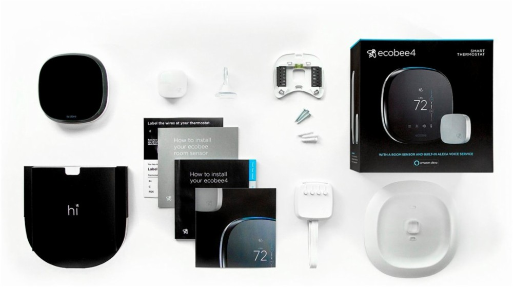 Brand New Ecobee4 Wifi Thermostat With Room Sensor And Built