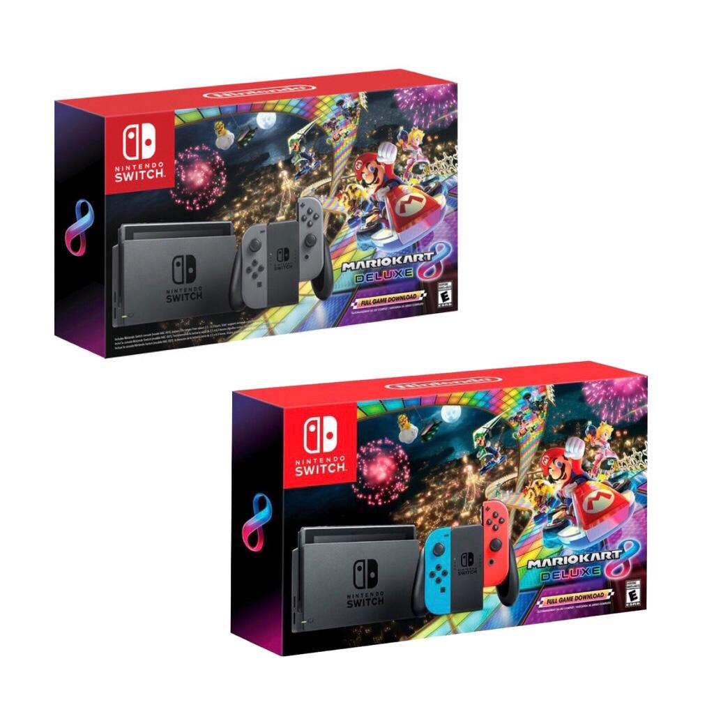 Details About Brand New Nintendo Switch 32gb Console Mario Kart 8 Deluxe Bundle All Colors