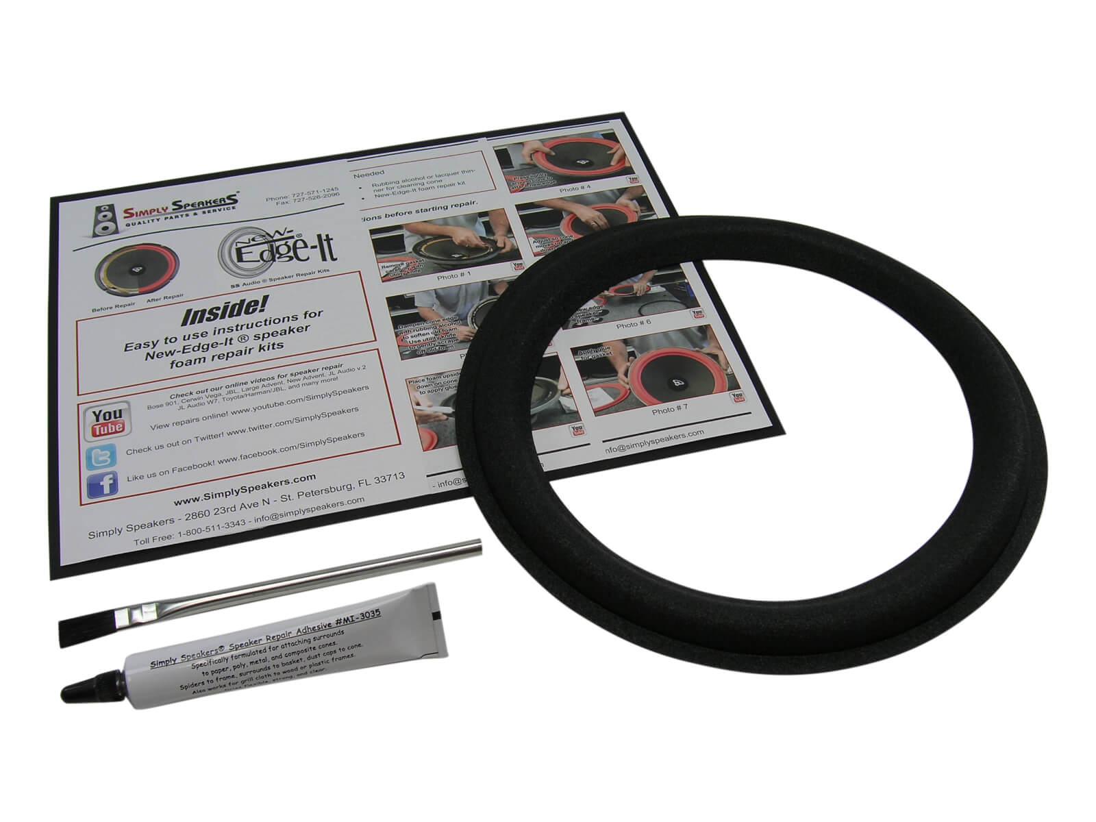 10 Boston Acoustics Vr500 Subwoofer Lautsprecher Schaum Edge Reparatursatz Single Ebay