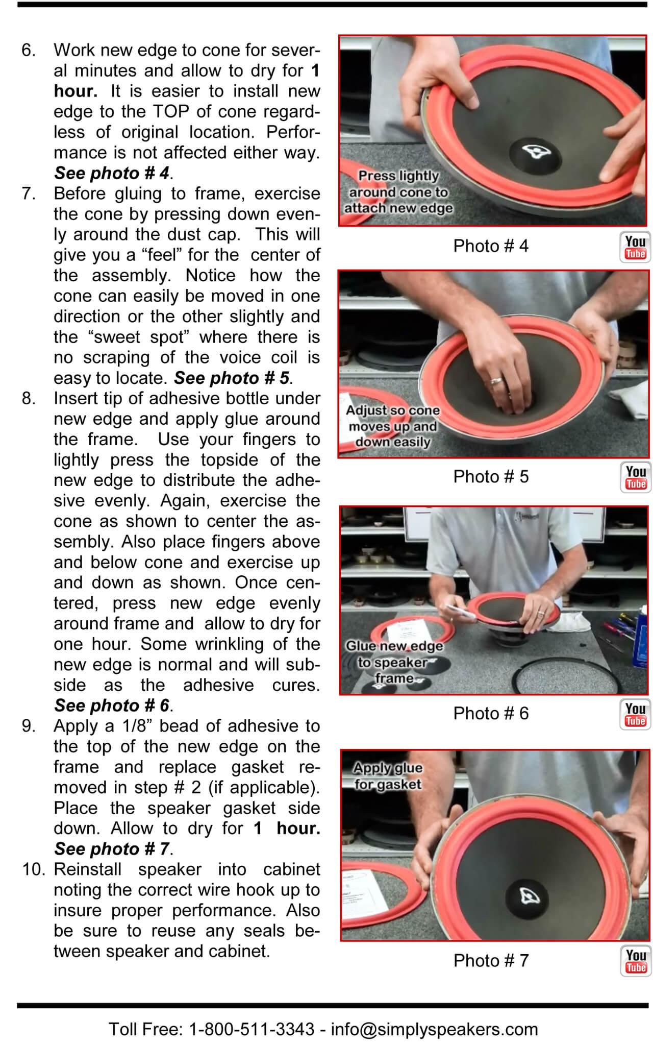 Rockford Fosgate 10 Inch Foam Speaker Repair Kit FSK-10 Rockford Pair