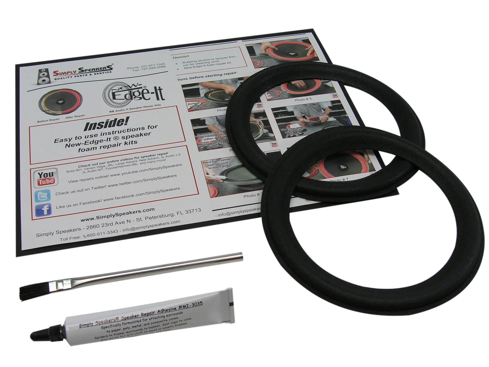 Pair Boston Acoustics 5.25 Inch Foam Speaker Repair Kit FSK-5.25