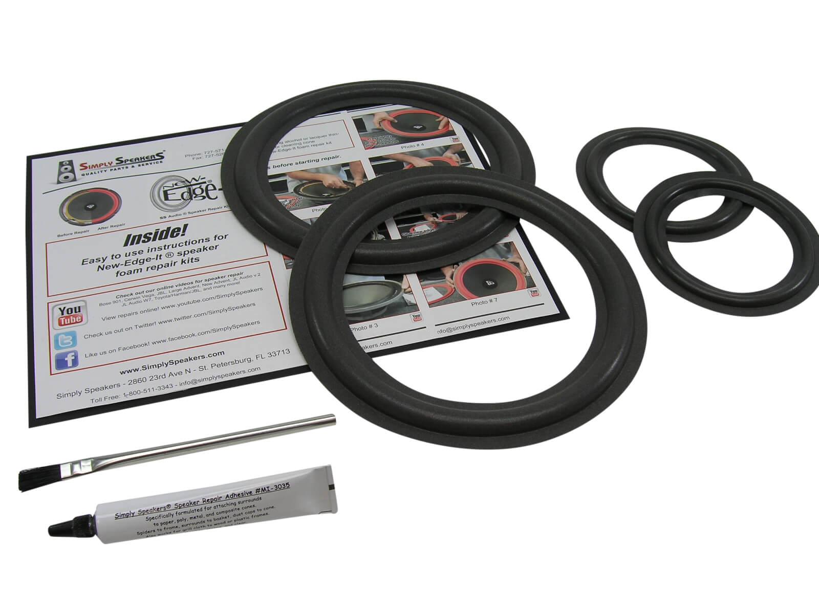 Infinity Reference 41 Mkii 8 Woofer Und 4 Mid Speaker Foam Surround Repair Kit Ebay