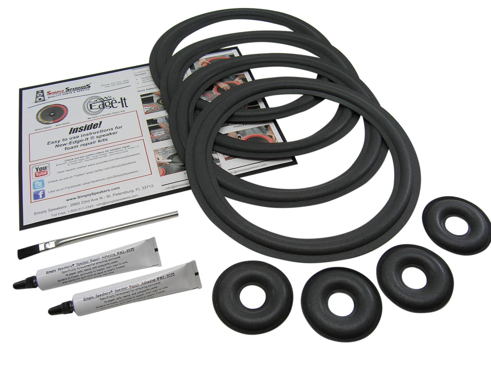 KEF Reference 104//2 Complete Speaker Foam Edge Repair Kit FSK-KEF104C